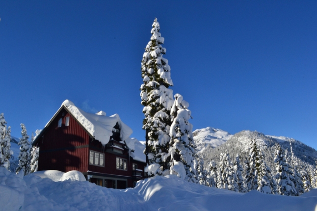 Trabajamos en este Lodge en invierno, Callaghan Valley, BC.