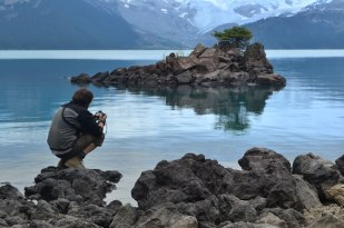Vic tomando fotos en Garibaldi Lake