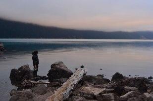 Chelitas al atardecer en Garibaldi Lake