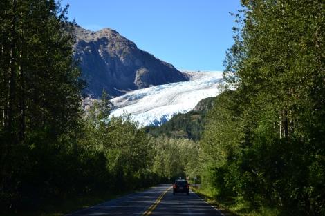 Camino a Exit Glacier