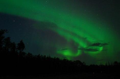 Las hermosas auroras boreales en el norte.
