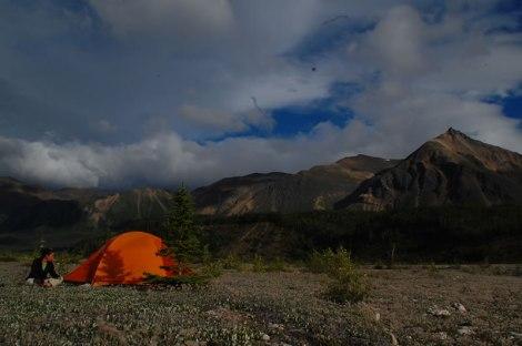 Acampando en tierra de osos.