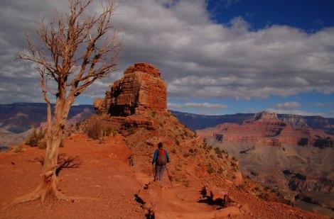 Caminando por el Gran Cañón del Colorado