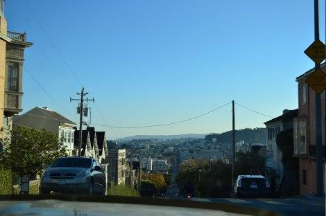 Así son las calles en San Francisco!