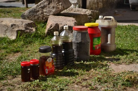 poquito aceite logramos recolectar en San Blas