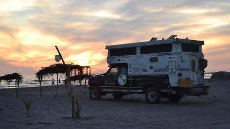 Nuestro camping en San Blas