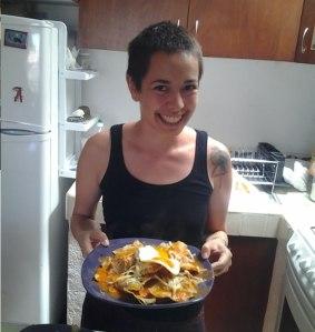 Nadia nos preparó chilaquiles y desde ese día los hemos preparado varias veces! Ñam!
