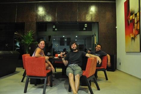 Cenando en la casa de Marcos