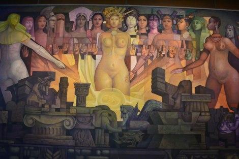 Mural de Mujeres Indígenas, Museo Nacional de Antropología