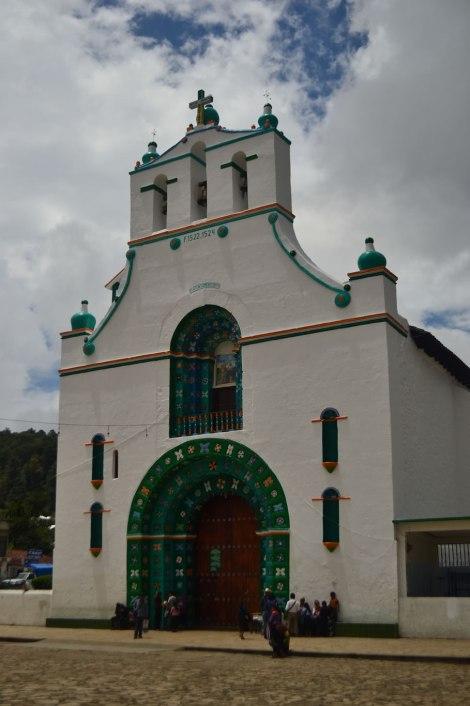 Iglesia de San juan Chamula. Sólo se puede fotografiar por fuera