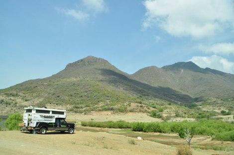 Nuestro lugar de camping en Teotitlán del Valle