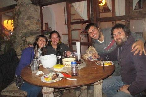 Un de nuestros ricos asados con Maru y Martín, de la Kombi Rutera