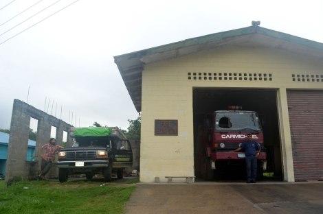 Estación de Bomberos de San Ignacio. Aquí pasamos nuestra última noche en Belice