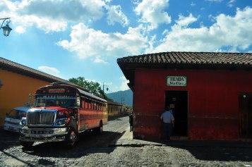 Chicken bus en Antigua