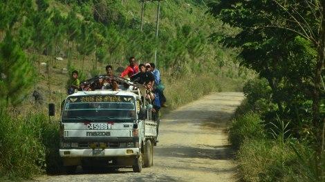 Transporte público Cobán-Lanquín