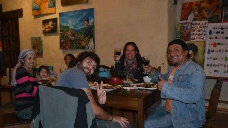 Qué buena estuvo esa parrillita! Y hasta con vino chileno!