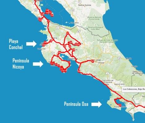 Nuestro recorrido de 30 días por Costa Rica