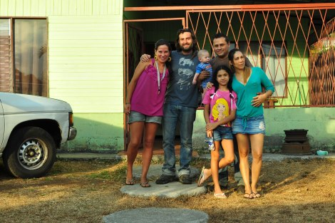 Con Reyner y su familia
