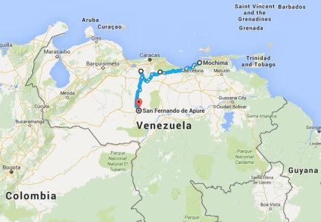 Esta es la ruta que dividimos en dos días