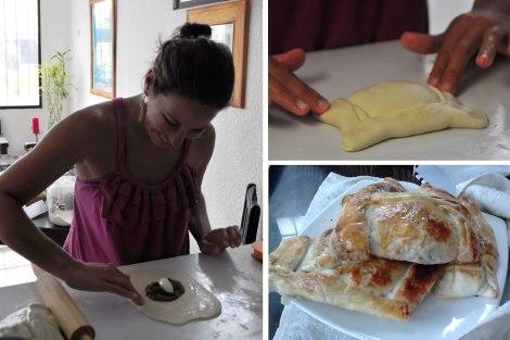 Marell me enseñó a hacer empanadas de pino