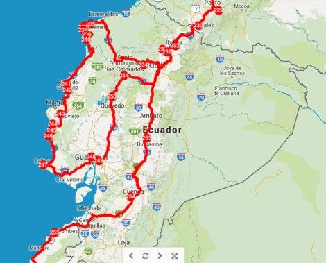 Nuestro recorrido en Ecuador