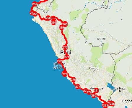 Nuestra ruta por Perú