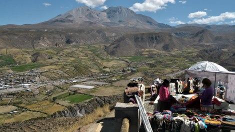 Vista del pueblo de Putre desde el mirador.