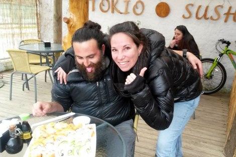 Qué bueno que estaba el sushi!!!!