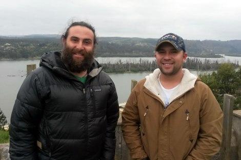 Turisteando con Carlos por Constitución. Acá en el mirador de la desembocadura del Río Maule.