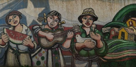 Nos encantó este mural de Llico
